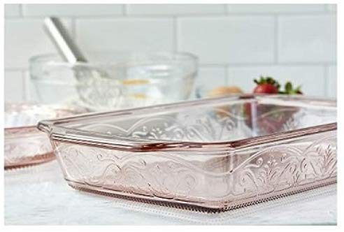 Anchor Hocking 4-Piece Laurel Embossed - Glass Cookware
