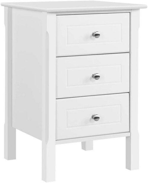 Yaheetech Whitewood nightstand