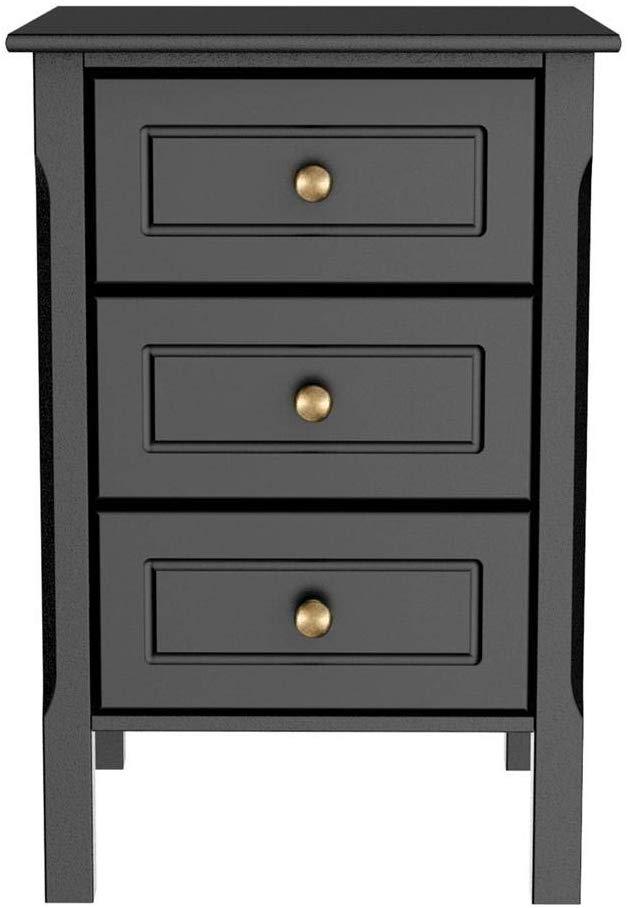 Yaheetech 3 drawers' nightstand bedroom