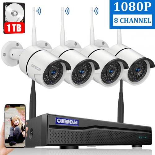 【8CH Expandable】 Home Security Camera System Wireless | Wireless CCTV