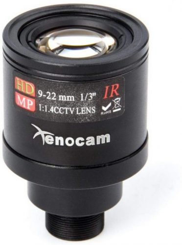 "Xenocam 9-22mm 1/3"" IR F1.4 CCTV Video Vari-Focal Zoom Lens"