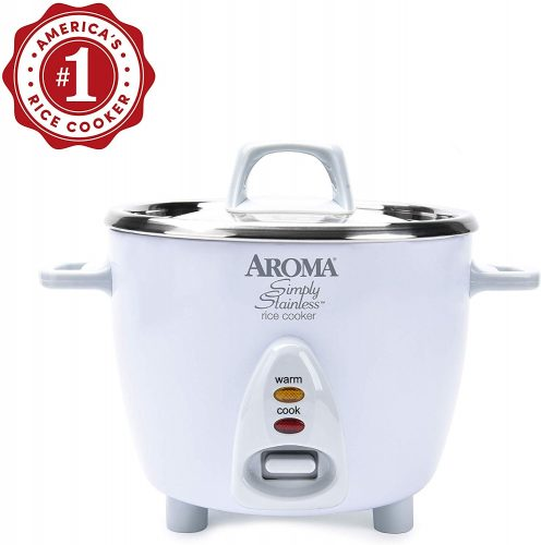 Aroma Housewares Simply Stainless | Rice Cooker Stainless Steel Inner Pot