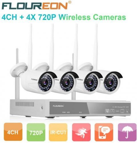FLOUREON Wireless CCTV Security House Camera System | Wireless CCTV