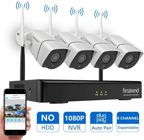 [Newest] Wireless Security Camera System, Firstrend 8CH 1080P | Wireless CCTV