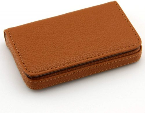 Partstock Brown leather Business Card Holder For Women