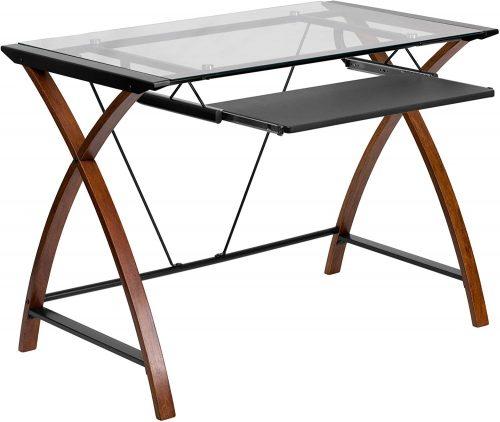 Flash Furniture Glass| Compact Computer Desks