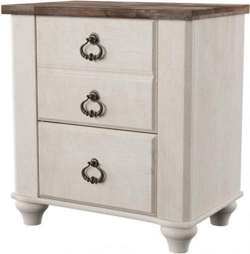 Ashley Willonton Nightstand | Rustic Bedroom Furniture