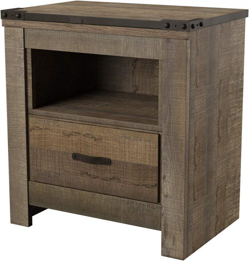 Trinel Warm Rustic Nightstand
