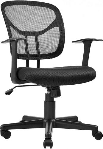 AmazonBasics Mid-Back Desk Office Chair with Armrests