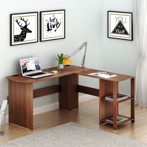 SHW L-shaped| Compact Computer Desks