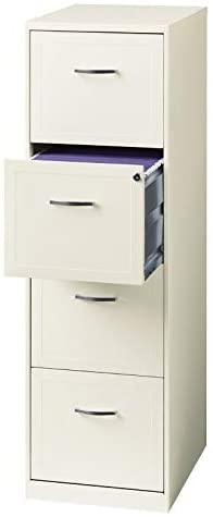 "6. Scranton & Co 18"" Deep 4 Drawer Vertical File Cabinet in Pearl White"