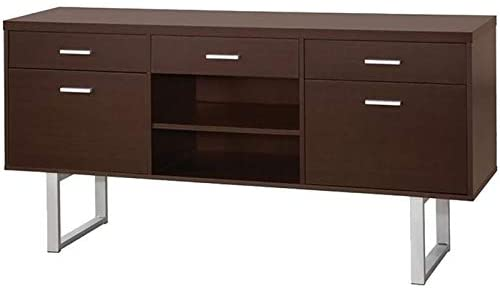 10. BOWERY HILL 5 Drawer Credenza Desk in Cappuccino