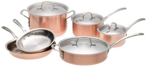 1. Calphalon T10 Tri-Ply Copper 10 Piece Set