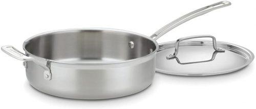 2. Cuisinart MCP33-24HN MultiClad| Saute Pan