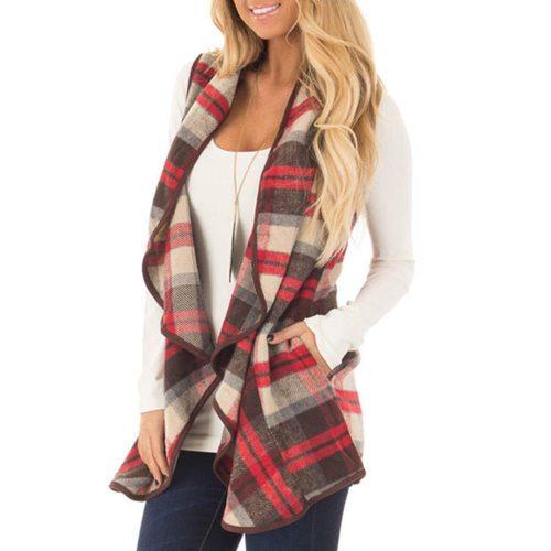1. Sumtory Women's Sleeveless Woolen Jackets