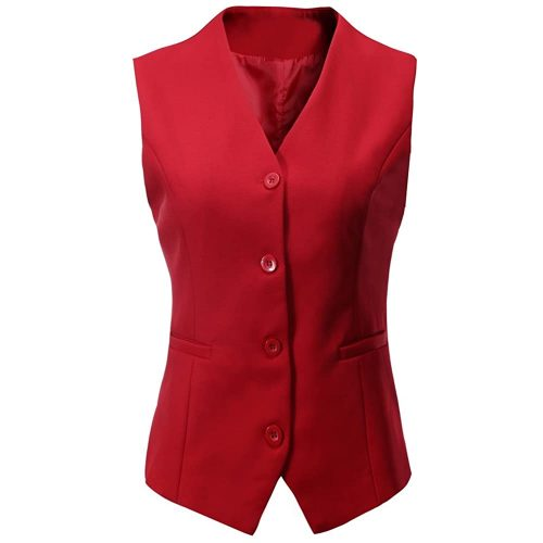 Foucome Women's Formal Regular Fitted - Women Suit Vest