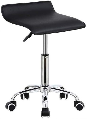 9. KKTONER Square Rolling Stool PU Leather