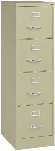 "3. Hirsh Industries 22"" Deep Vertical File Cabinet 4-Drawer"