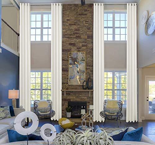 Ikiriska 100% Blackout Extra Long Linen Curtain- Custom Curtains