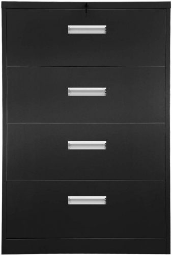 9. Aobabo 4 Drawer Metal Steel Filing Cabinet with Lock 36'' Heavy Duty,