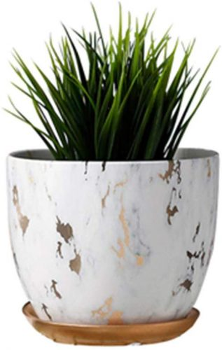 7. Marble Plant Pot, 6 inch Modern Nordic Style