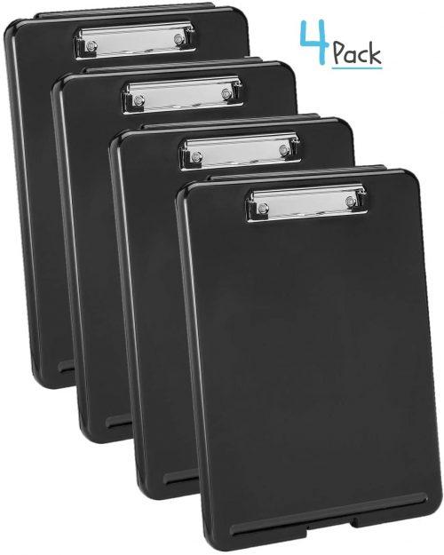 10. 1InTheOffice Plastic Storage Clipboard