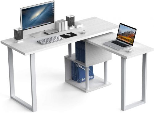 "9. 55"" Large Size L-Shaped Computer Desk"