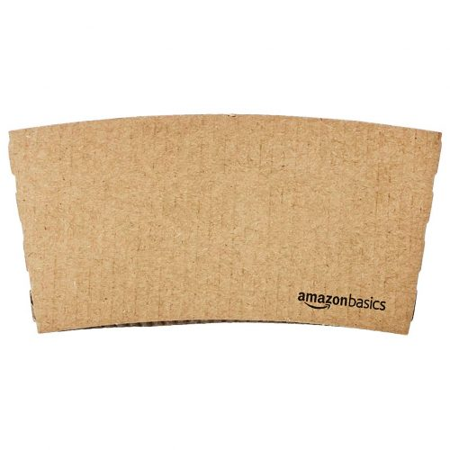 6. AmazonBasics Kraft Cup Sleeve for ten and 12oz paper cup