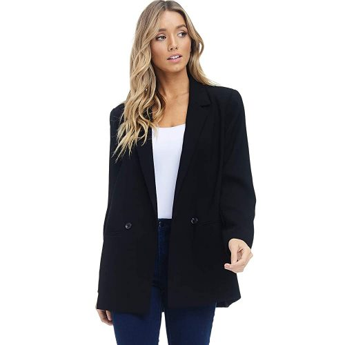 2. Alexander + David Women's Loose Blazer Jacket Suit | Black Blazer For Women