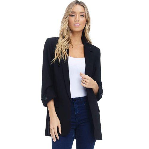 4. Alexander + David Women's Open Front Blazer Jacket Suit