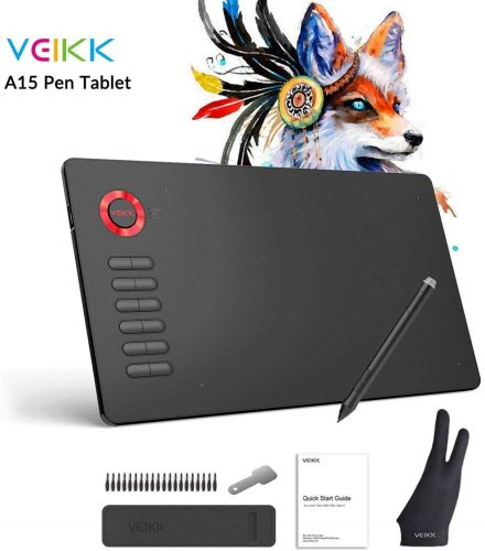 VEIKK A15 10x6 inch Graphic Pen Tablet | Cheap Drawing Tablets