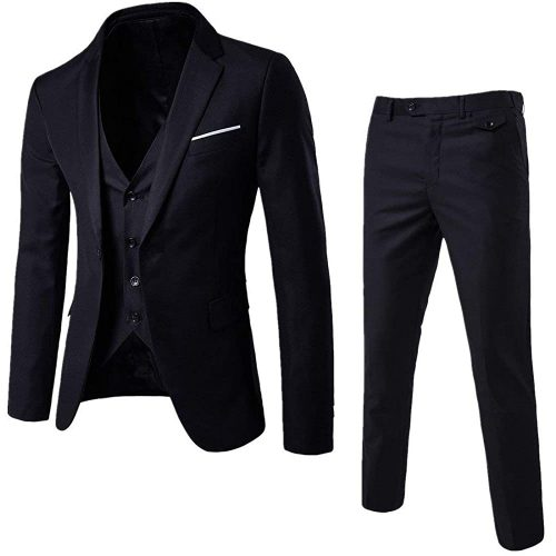 5. Cloudstyle Men's 3- piece Suit Notched