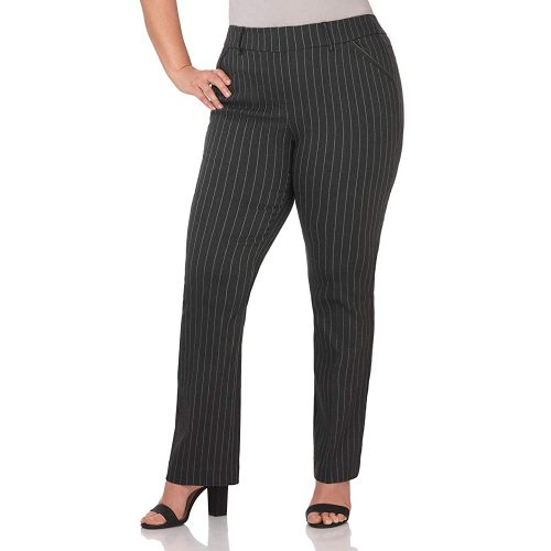 2. Rekucci Curvy Woman Ease in to Comfort Barely Bootcut Plus Size Pant