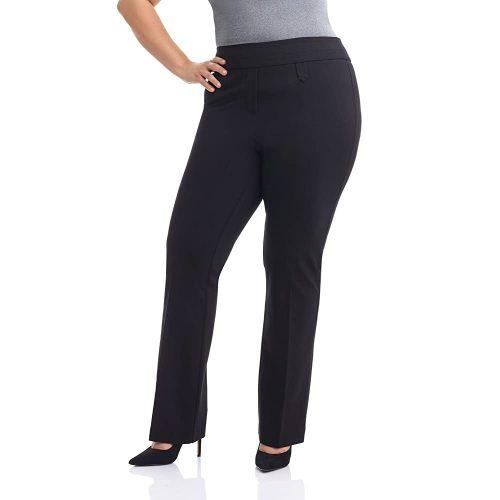 3. Rekucci Curvy Woman Secret Figure Knit Bootcut Plus Size Pant w/Tummy Control