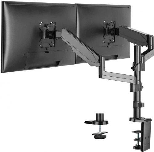 WALI Premium Dual LCD Monitor Desk Mount Stand
