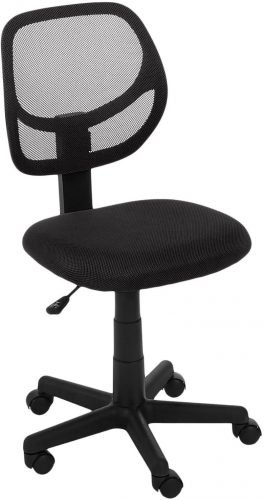 3. AmazonBasics Low-Back COffice Desk Chair with Swivel Casters