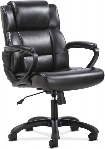 6. Sadie Leather Executive Computer/Office Chair | Comfortable Office Chairs