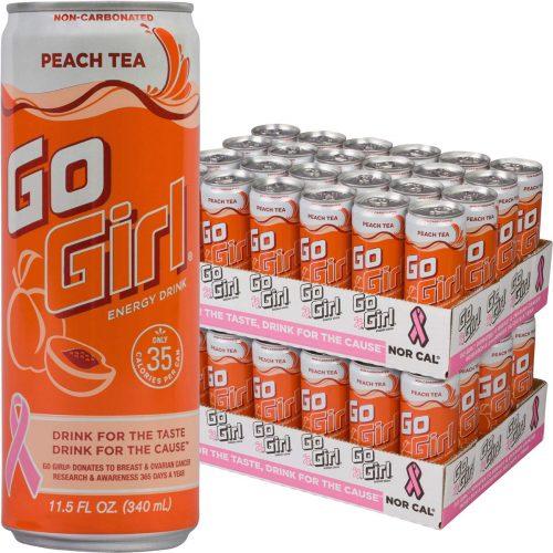 7. Go Girl All Natural Peach Tea Energy Drink