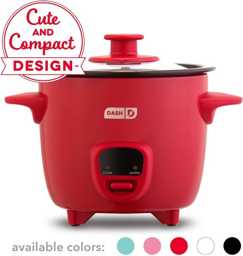 4. Dash Mini Rice Cooker Steamer with Removable Nonstick