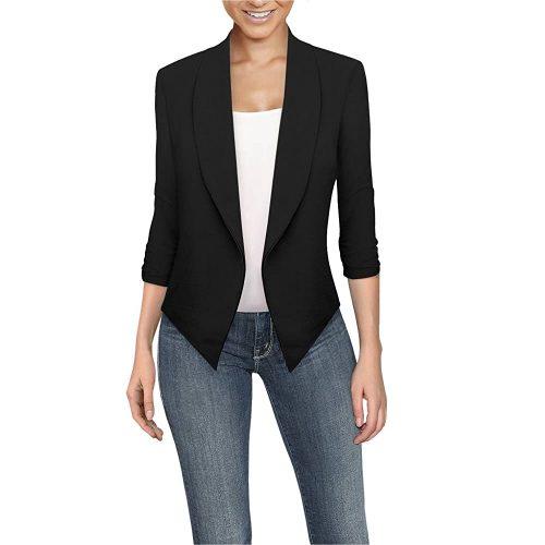7. Hybrid & Company Women's Casual Work Office Blazer Jacket | Red Blazers For Women