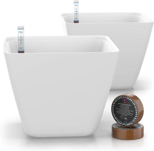 10. 5'' Self Watering Pots for Indoor Plants