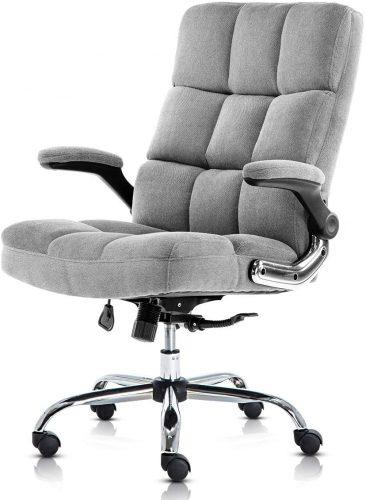 SP Velvet Office Chair Adjustable Tilt Angle