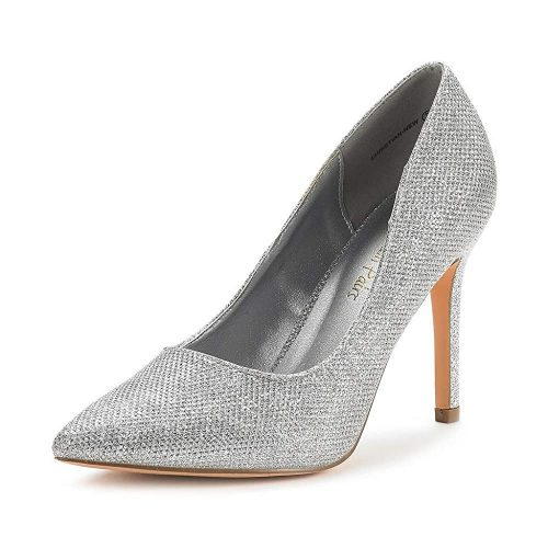 6. DREAM PAIRS Women's Heels Pump Shoes | Silver Heels
