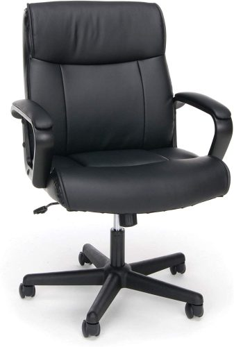 1. OFM Essentials Collection Bonded Leather Executive Chair | Comfortable Office Chairs