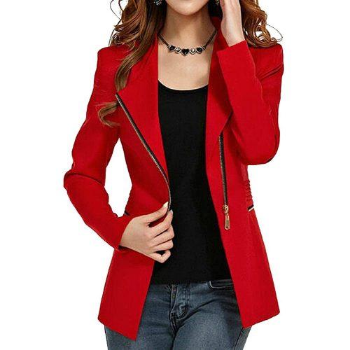 4. Aro Lora Women's Autumn Oversize Slim Fit| Red Blazers For Women