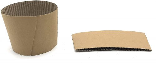 9. Disposable Corrugated Hot Cup Sleeves Java Jackets