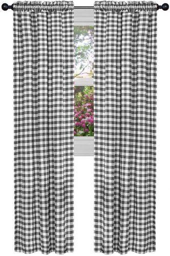 GoodGram Buffalo Check Plaid Gingham Curtain