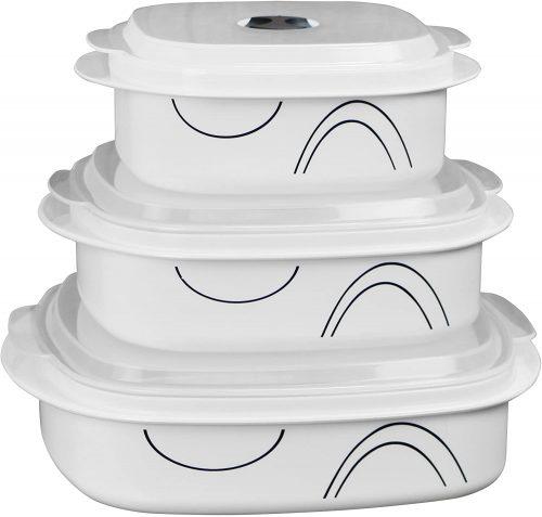1. Corelle Coordinates by Reston Lloyd 6-Piece Microwave Cookware