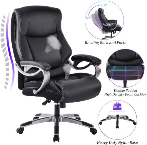 3. REFICCER Big & Tall High Back Executive Office Chair | Comfortable Office Chairs