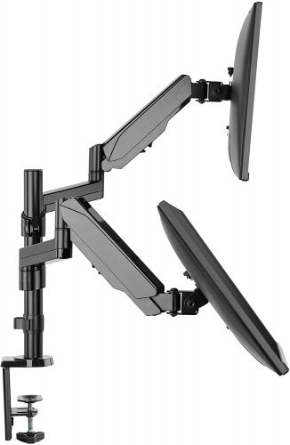 TechOrbits Dual Monitor Stand - Dual Computer Screen Arms